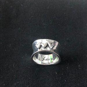 Sterling Silver Love Ring 6